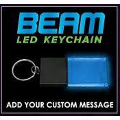 Black / Blue - Beam LED Custom Light Up Acrylic Key Chain