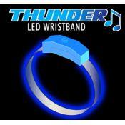 Blue - Light Blue Thunder Sound Activated Motion Bracelet