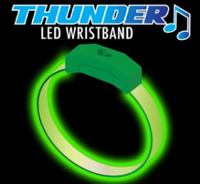 Green - Green Thunder Sound Activated Motion Bracelet