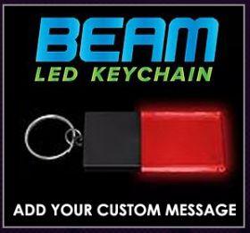 Black / Red - Beam LED Custom Acrylic Key Chain